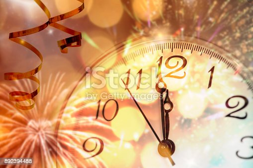 istock Twelve o'clock - new year's eve 892394488
