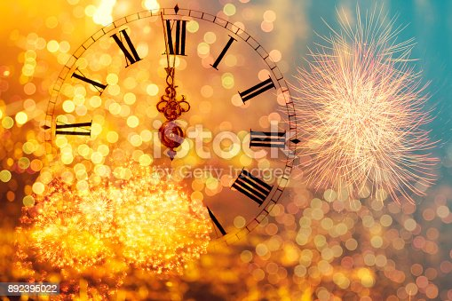 istock Twelve o'clock - new year's eve 892395022