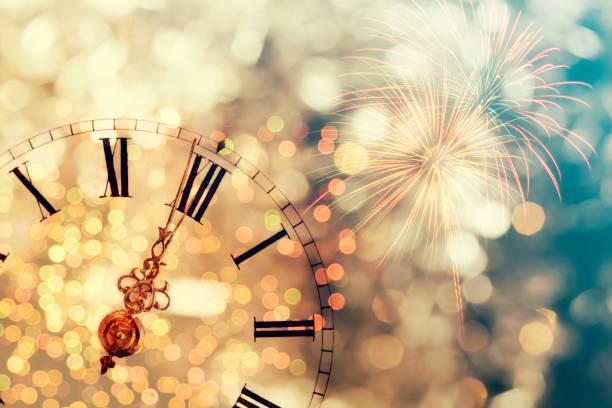 Twelve o'clock - new year's eve stock photo