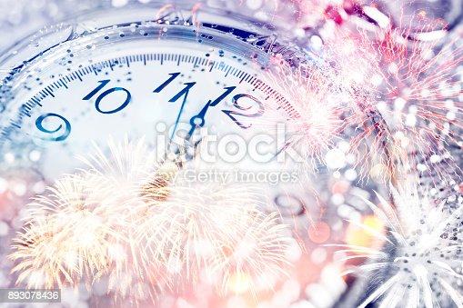 istock Twelve o'clock - new year's eve 893078436