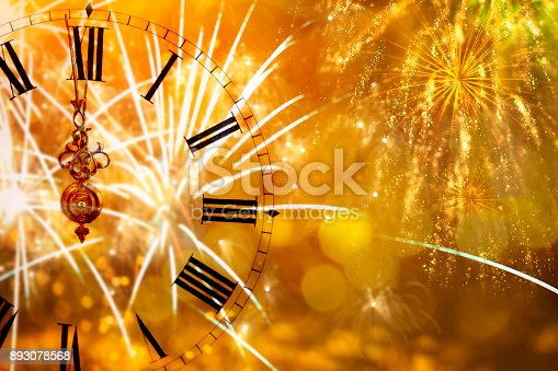 istock Twelve o'clock - new year's eve 893078568