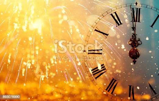 istock Twelve o'clock - new year's eve 893078990