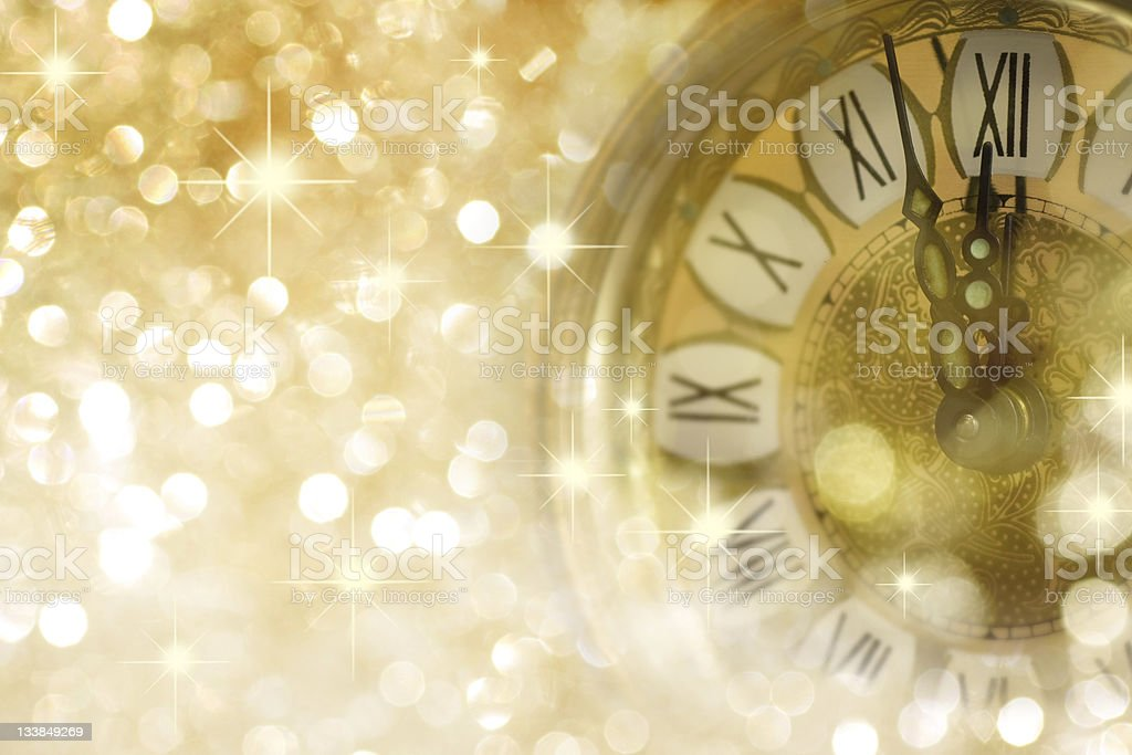 Twelve o'Clock on New Year's Eve stock photo