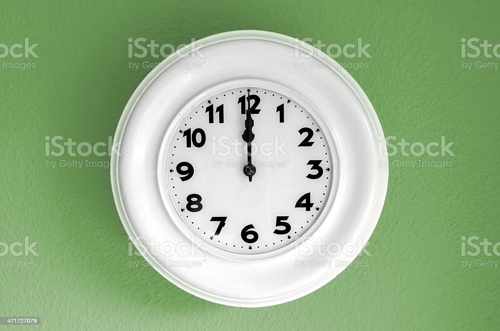 Twelve o'clock stock photo