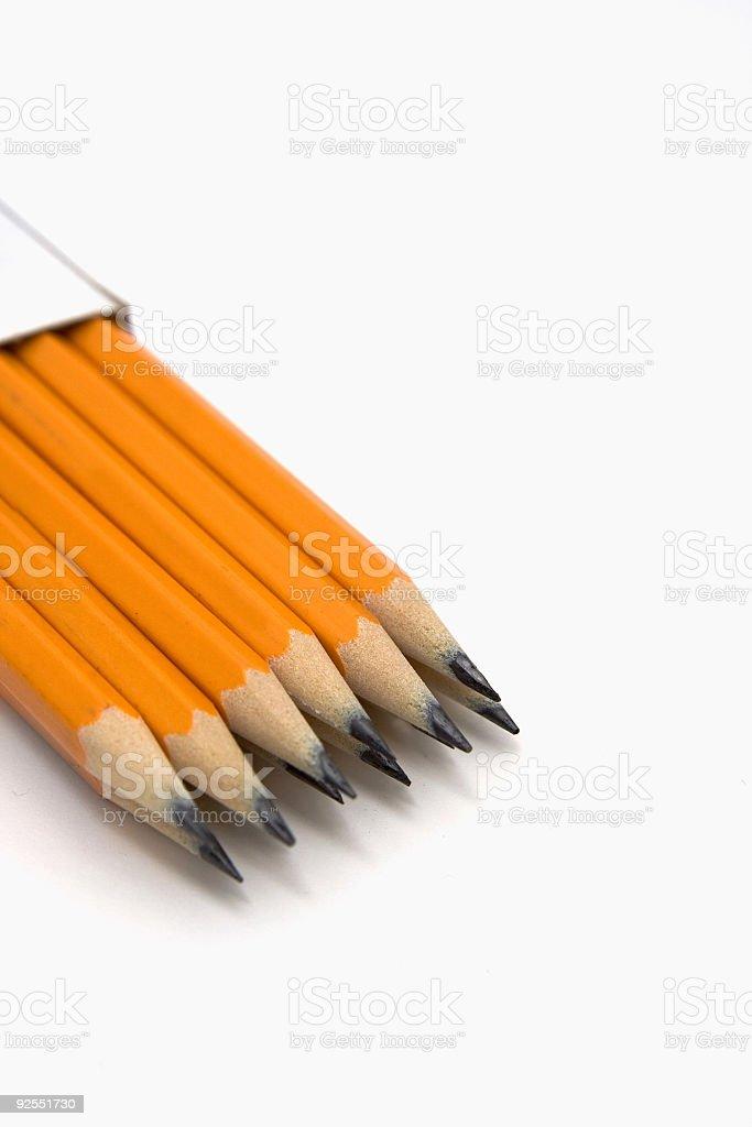 Twelve pack of pencils royalty-free stock photo