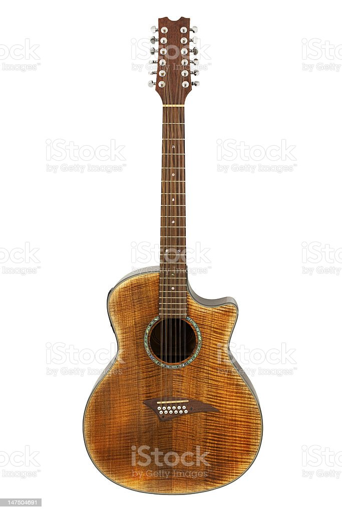 Twelve String Acoustic Guitar stock photo
