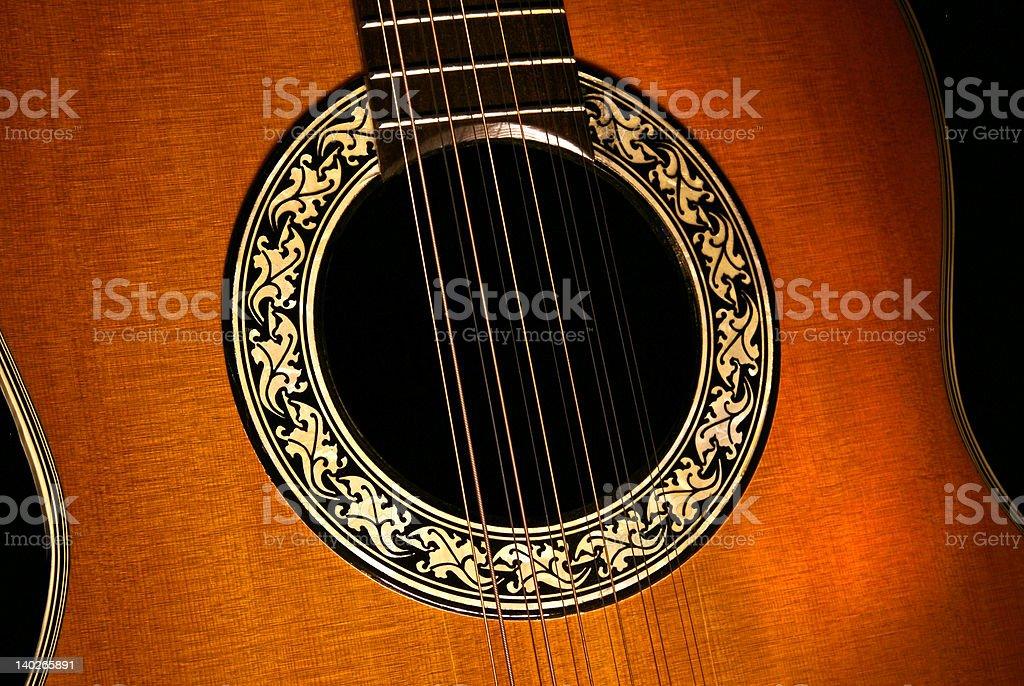 Twelve String Guitar royalty-free stock photo