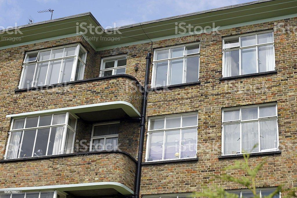 Twenties/Thirties Art Deco London Apartments royalty-free stock photo