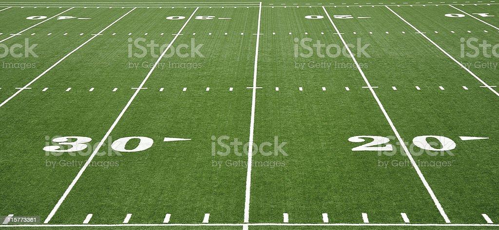 grass american football field. Twenty And Thirty Yard Line On American Football Field Stock Photo Grass