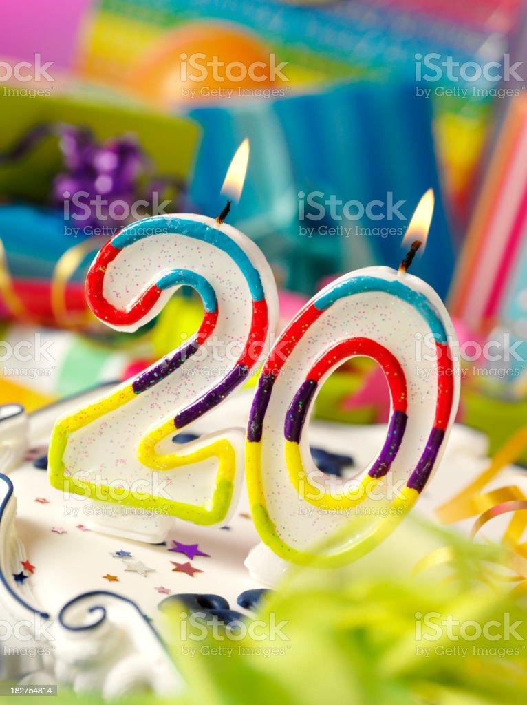 Twenty Birthday Candle royalty-free stock photo