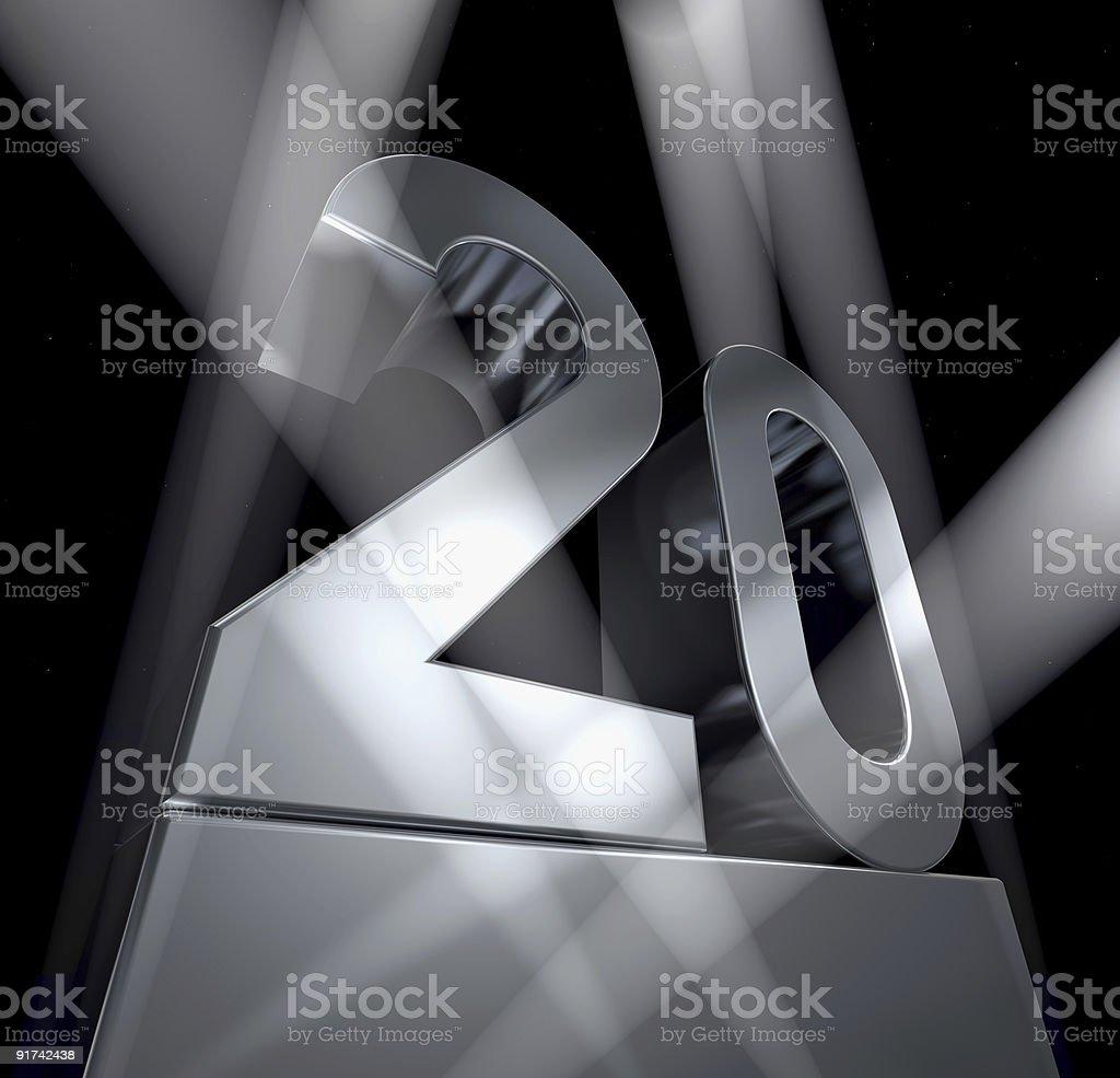 twenty celebration monument 20 royalty-free stock photo