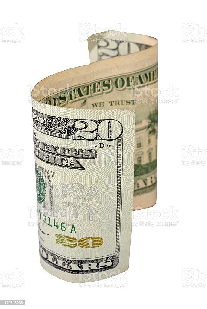 Twenty Dollar Bill stock photo