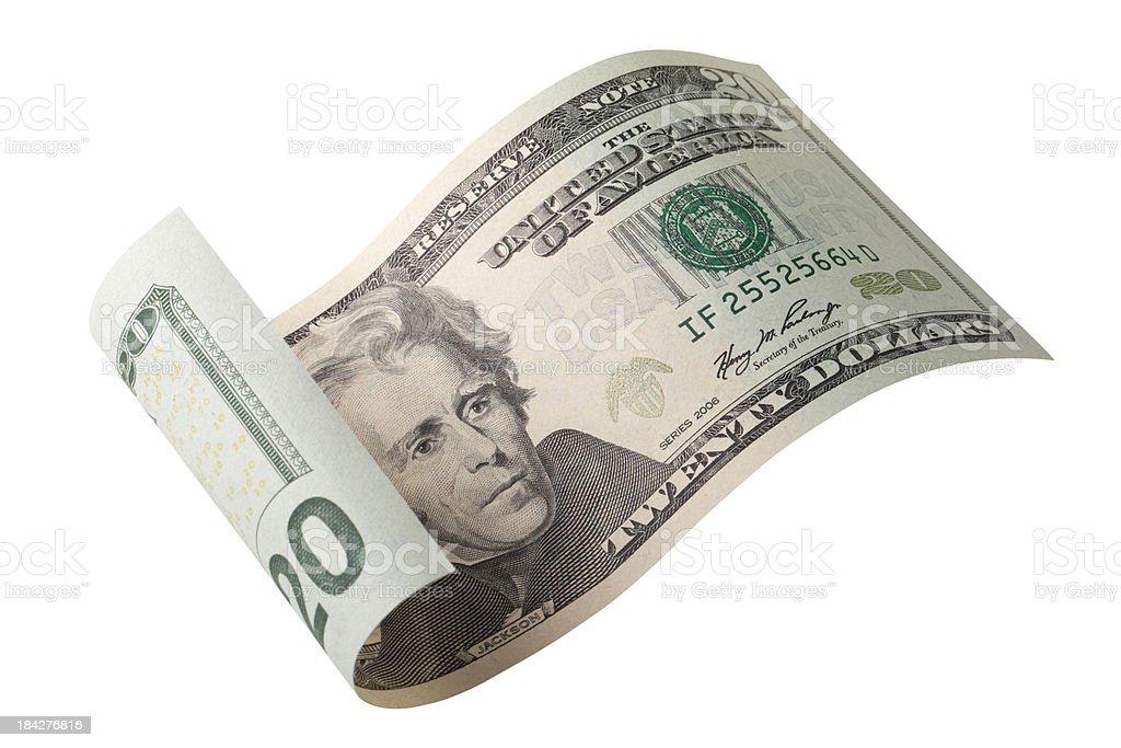 Twenty dollar bill royalty-free stock photo