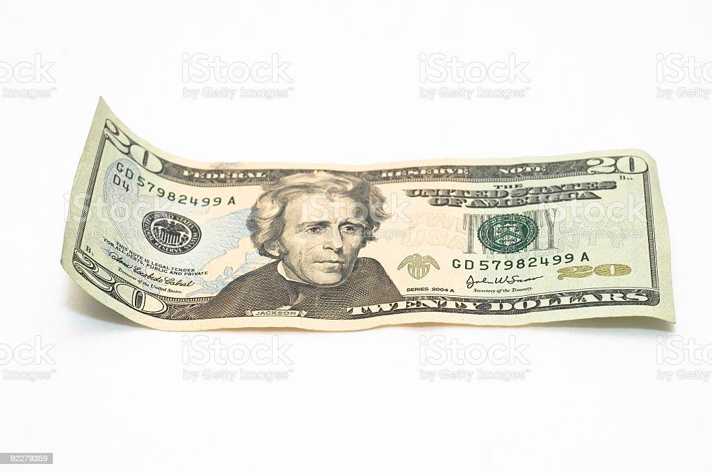 $20, twenty dollar bill royalty-free stock photo