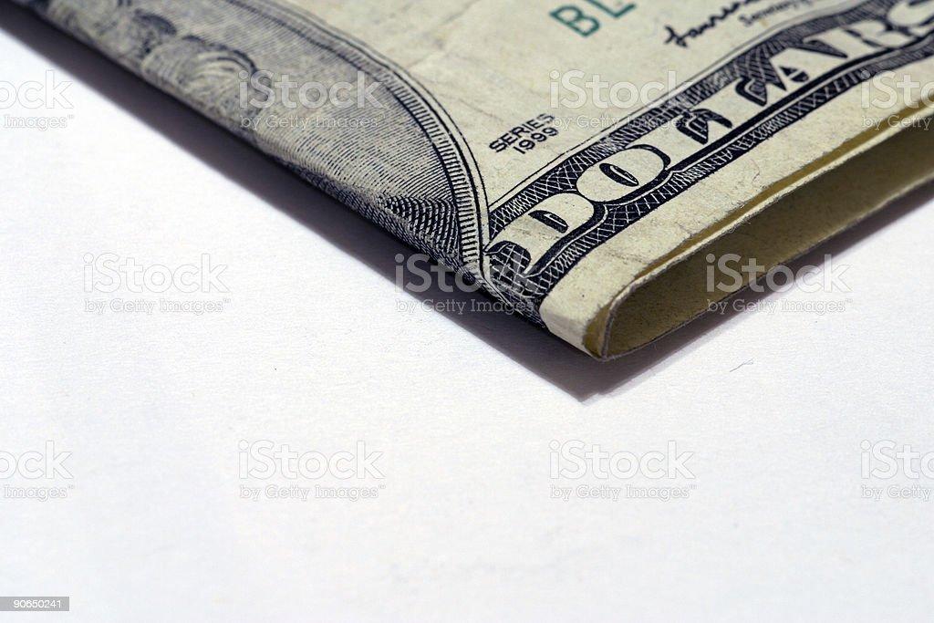 Twenty Dollar Bills Folded royalty-free stock photo