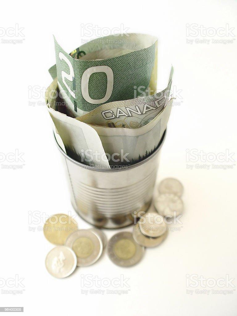 Twenty Dollar Bills in Can - Royalty-free 20-24 Years Stock Photo