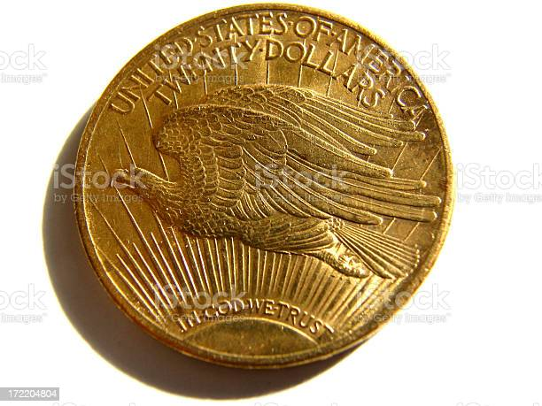 Twenty Dollar Gold Coin with Flying Eagle