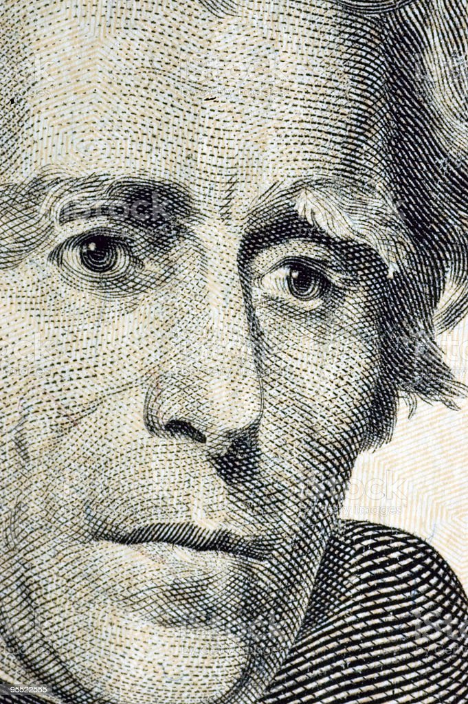 Twenty Dollar Portrait stock photo