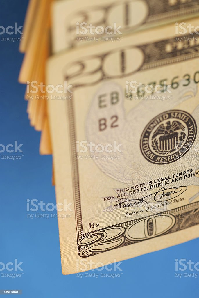 Twenty Dollars royalty-free stock photo