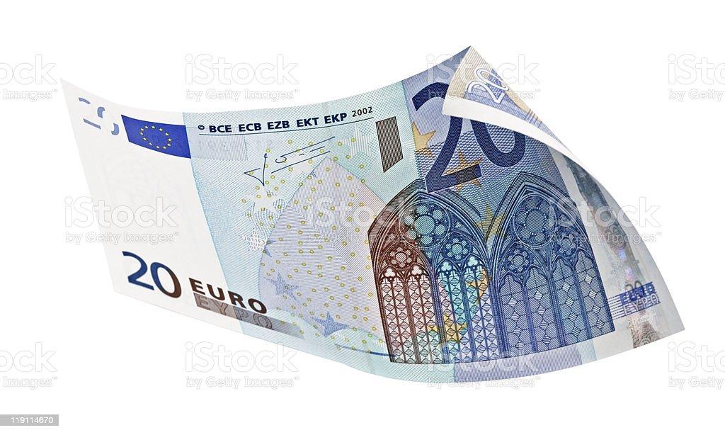 Twenty Euro banknote royalty-free stock photo