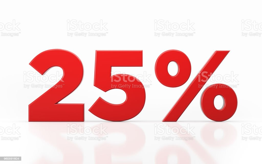 Twenty Five Percent Off Discount Symbol stock photo