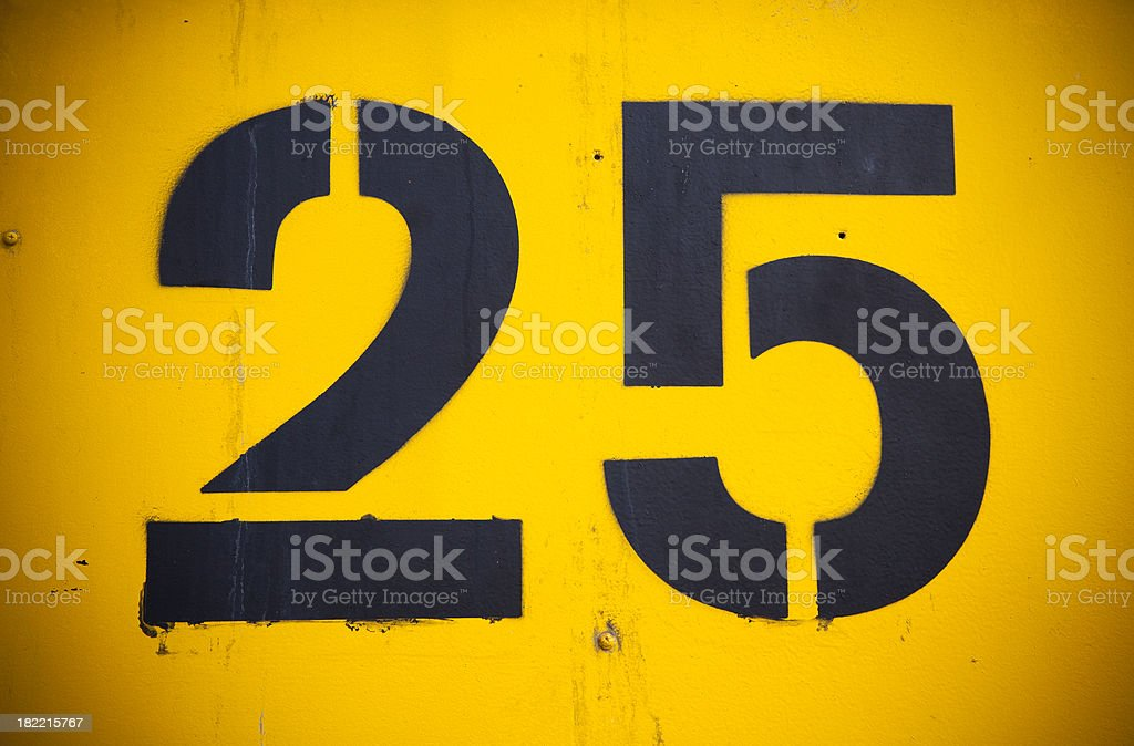 twenty five stock photo