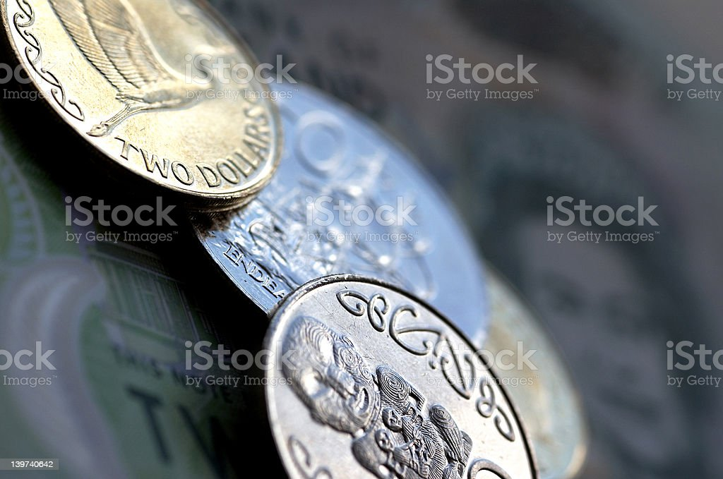 Twenty Four Dollars & seventy cents royalty-free stock photo