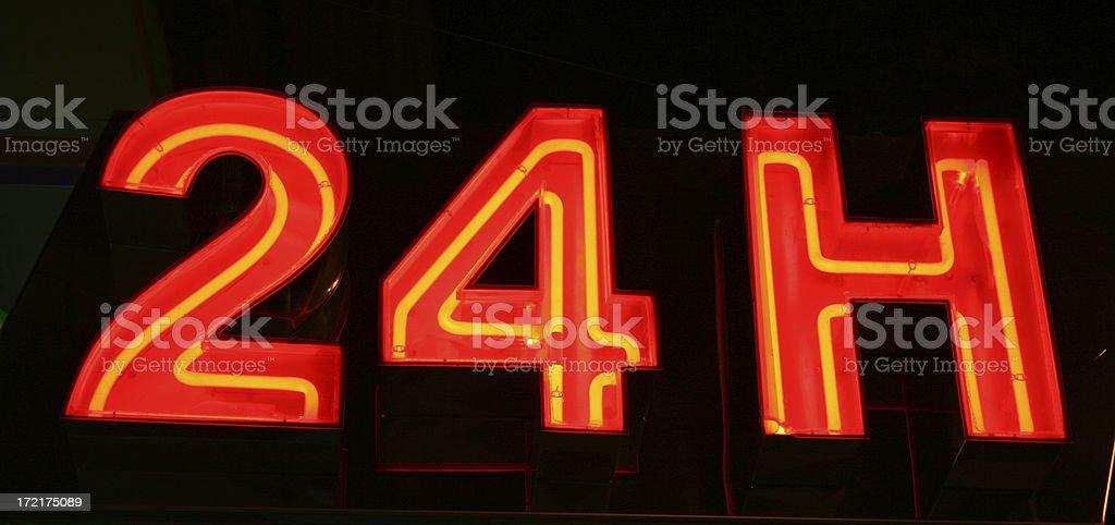 twenty four hours stock photo