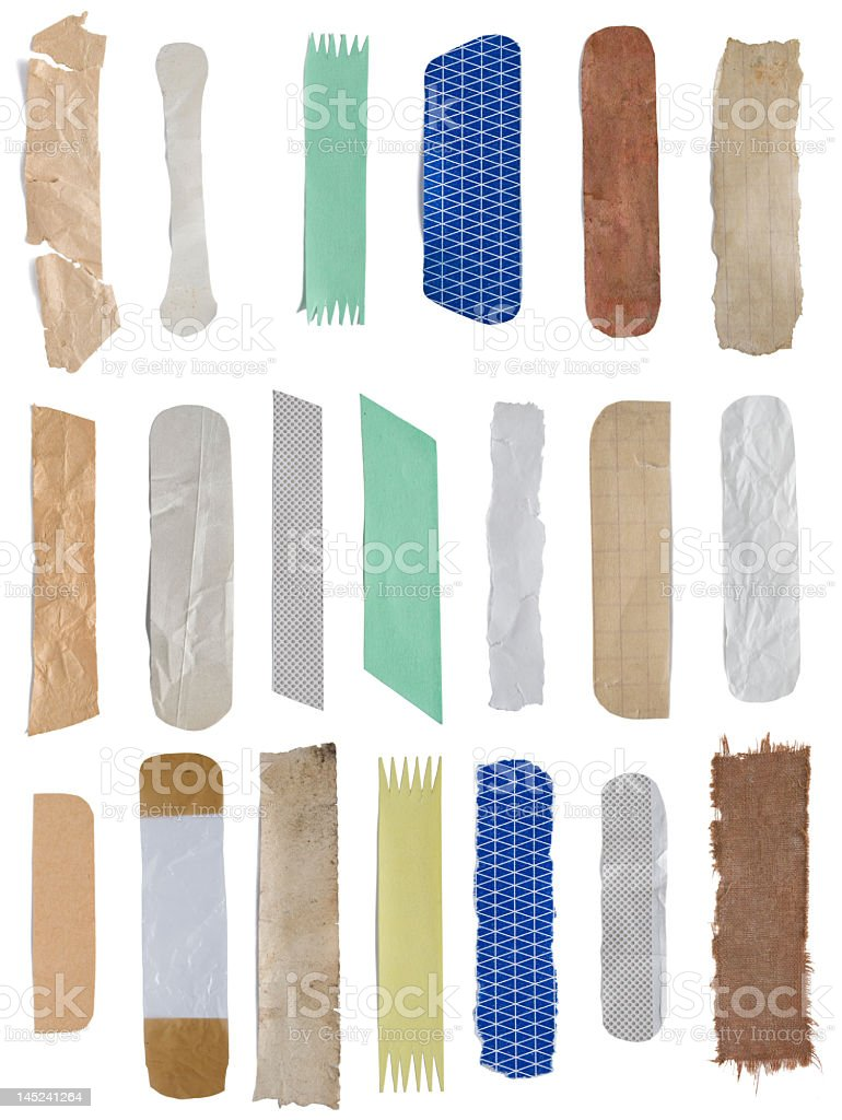 Twenty isolated stickers stock photo