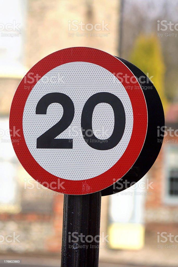Twenty miles per hour royalty-free stock photo