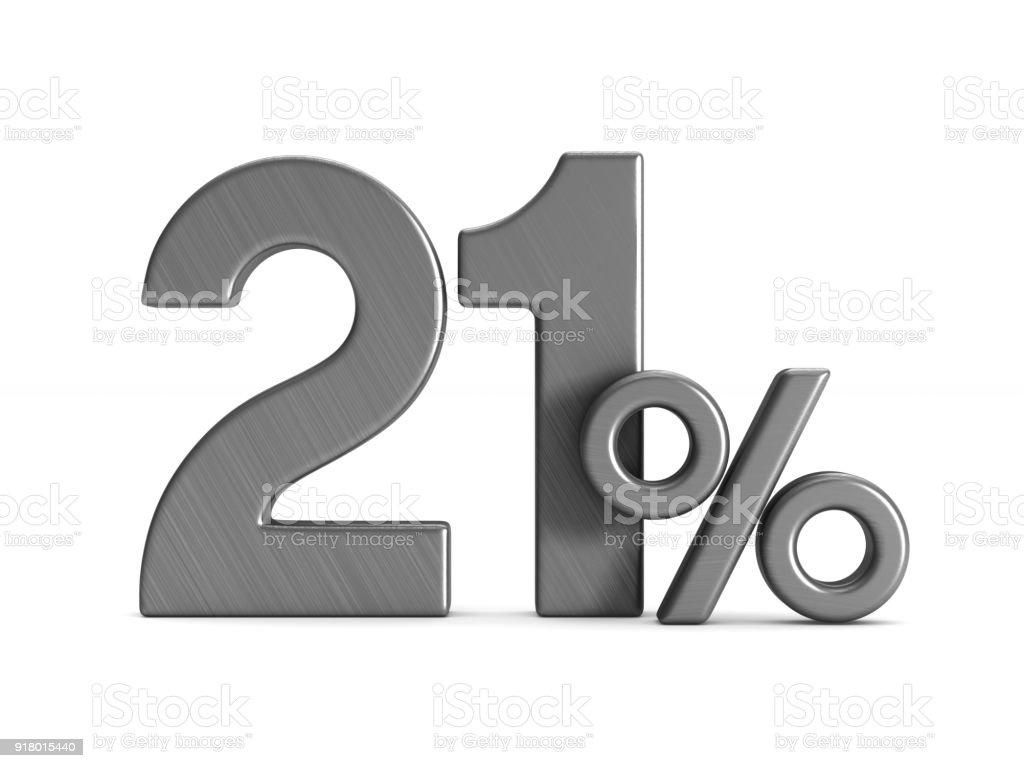 zwanzig Prozent auf weißem Hintergrund. Isolierte 3D-Illustration – Foto