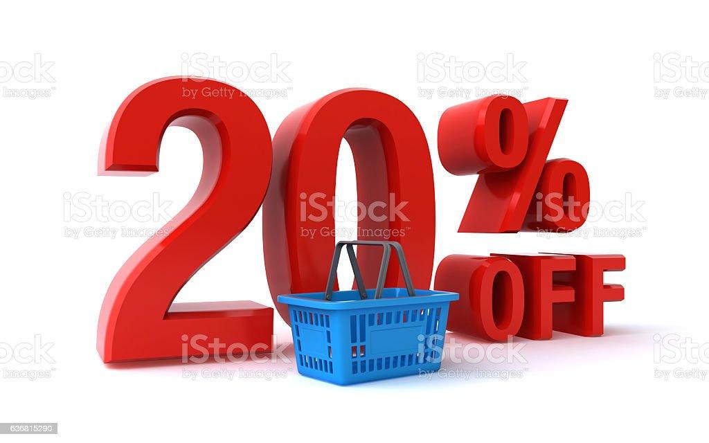 twenty percent discount stock photo
