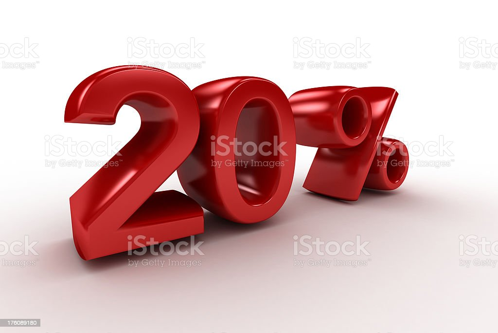 Twenty Percent royalty-free stock photo