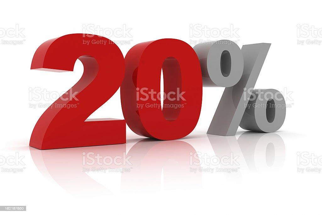 Twenty Percent royalty-free stock photo