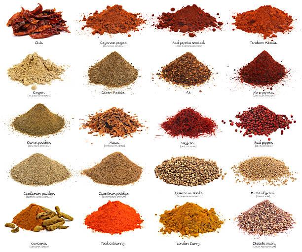 twenty spices. xxxl. first part. - saffron on white bildbanksfoton och bilder