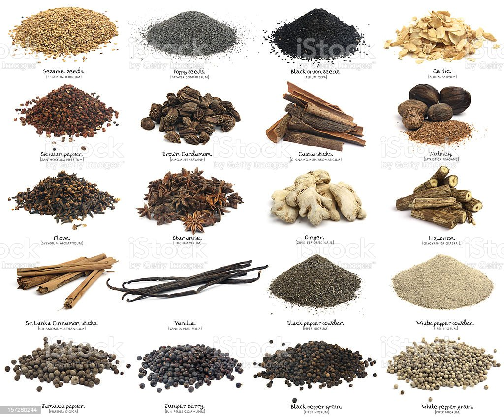 Twenty spices. XXXL. Second part. stock photo
