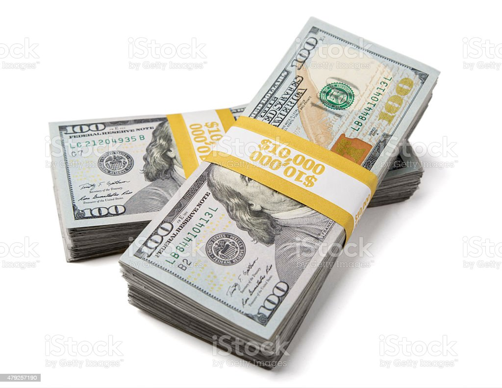 Twenty Thousand Dollars stock photo