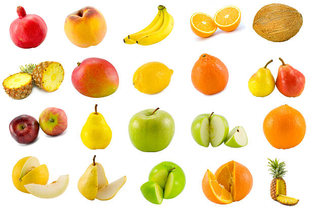 zwanzig tropischen früchte - melonenbirne stock-fotos und bilder