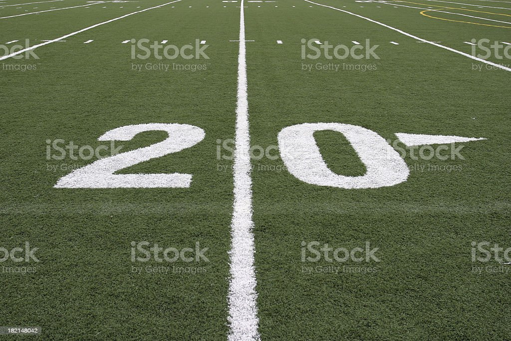 Twenty yard line royalty-free stock photo