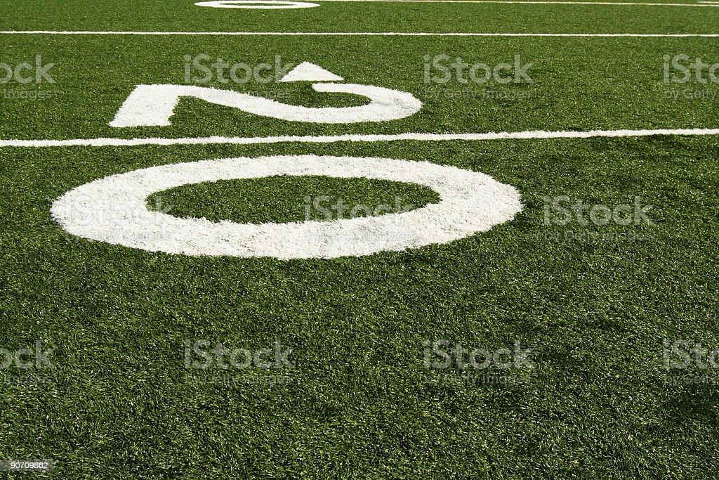Twenty yard line royalty-free stock photo