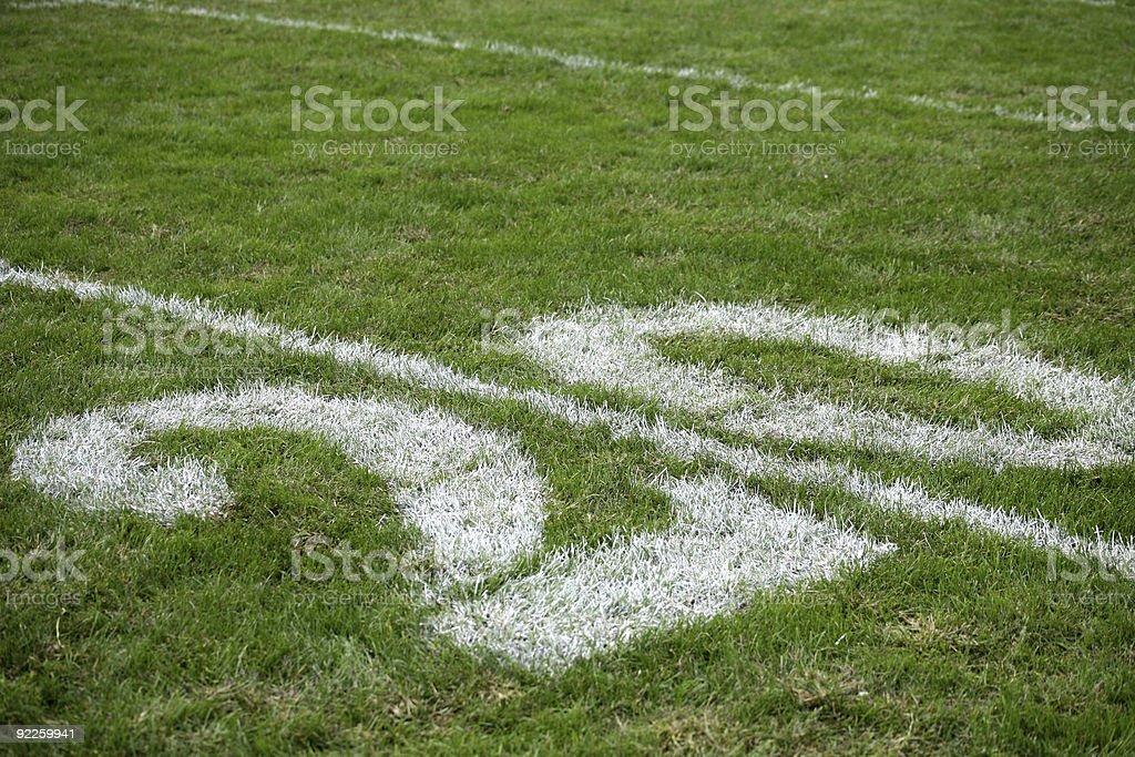 twenty yard line stock photo
