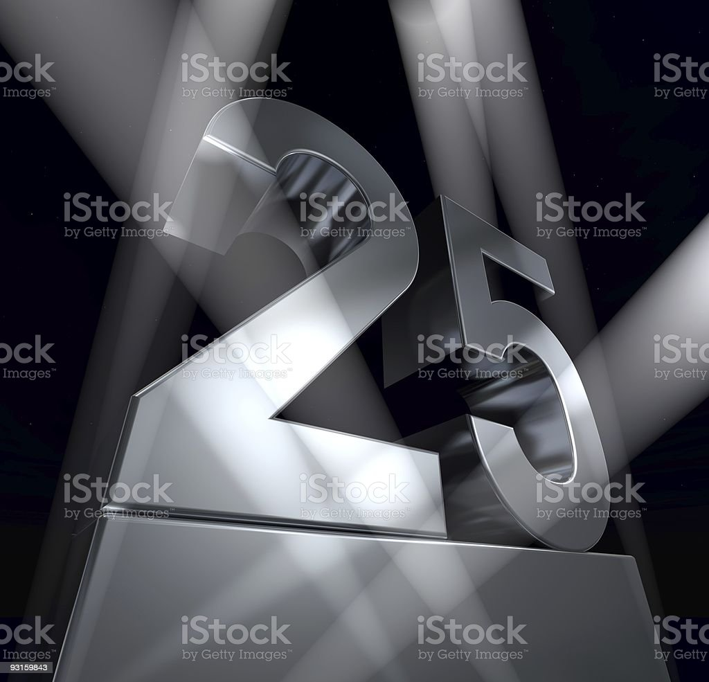 twenty-five celebration monument 25 stock photo