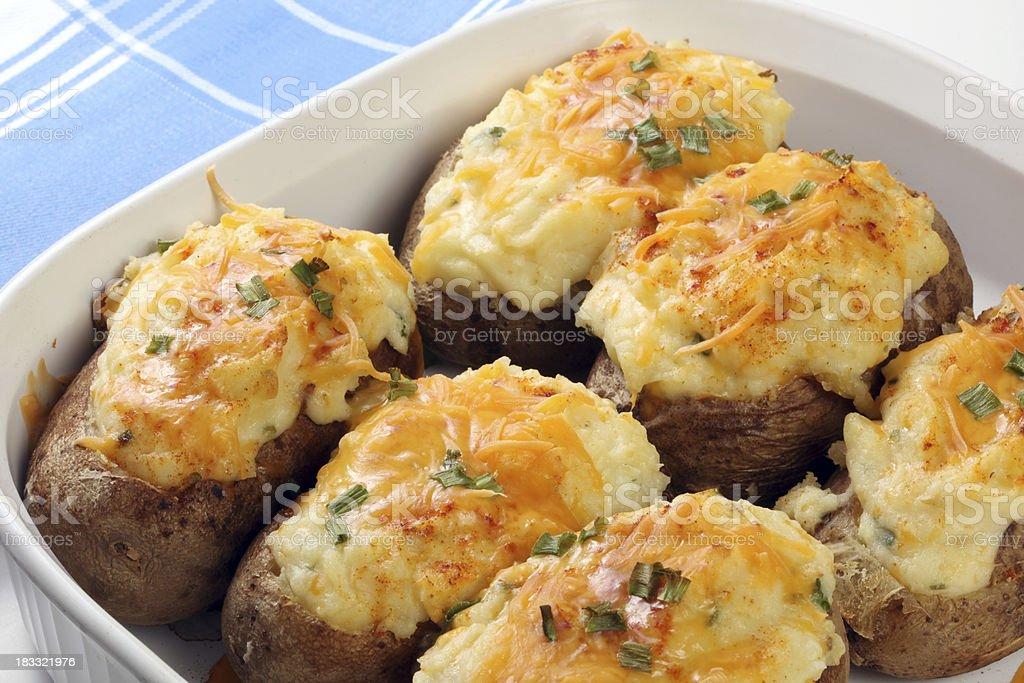 Twice Baked Potato stock photo