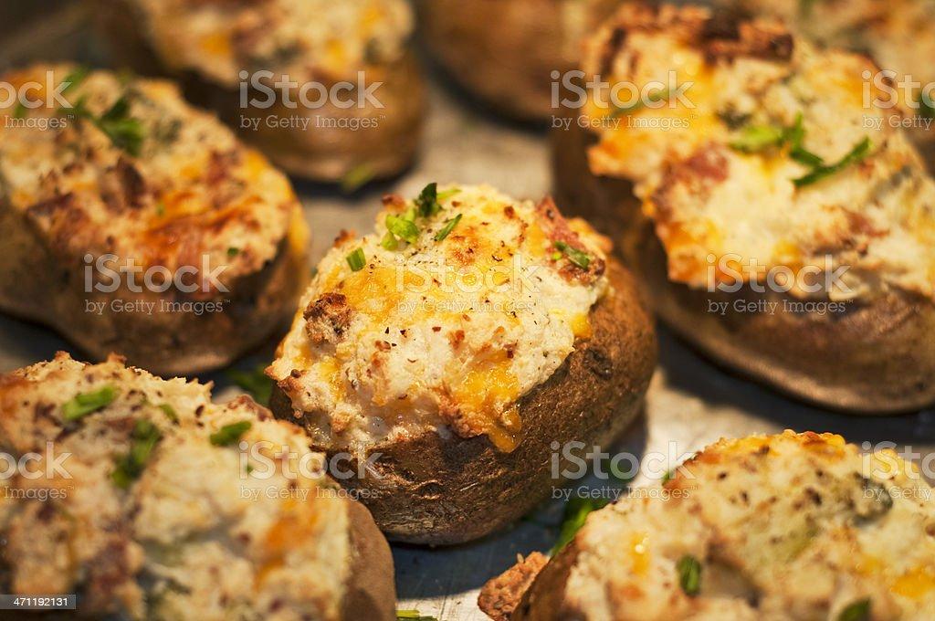 Twice Baked Potatoes stock photo