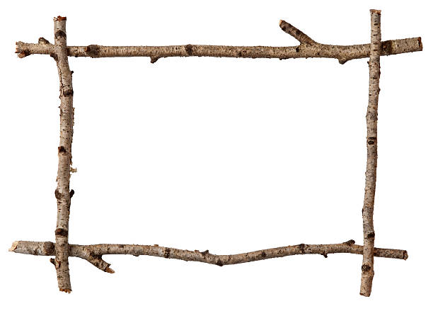 Twig frame Twig frame on white twig stock pictures, royalty-free photos & images