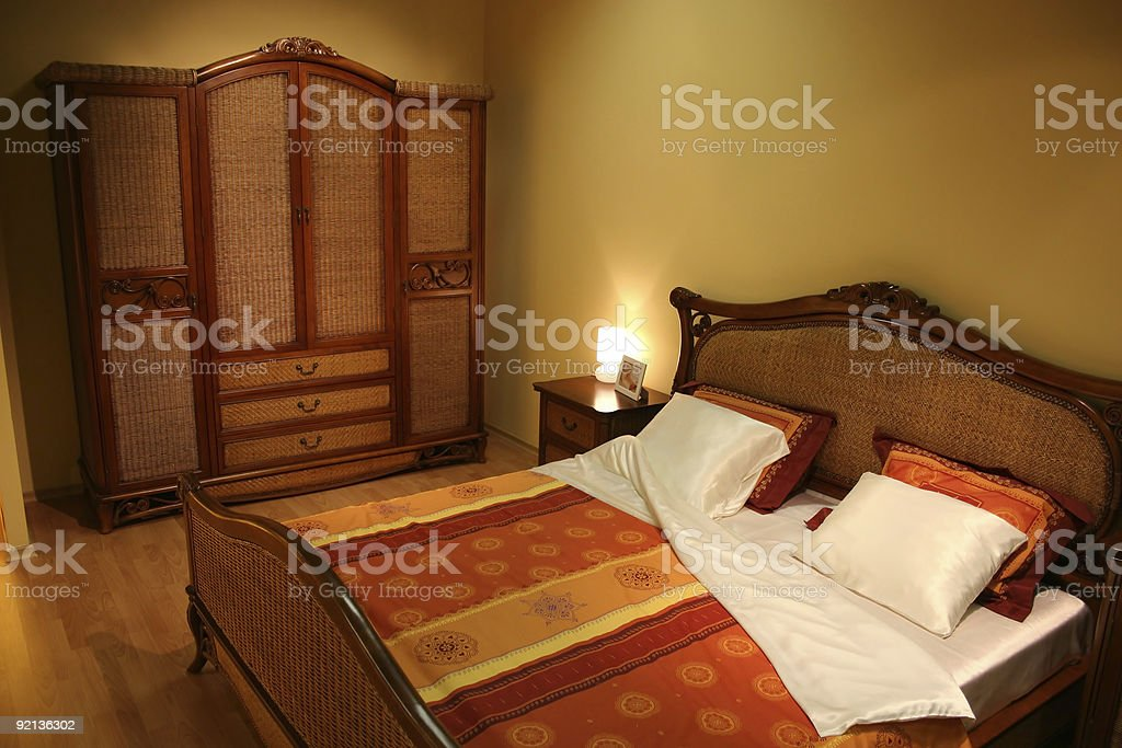 twiggen bedroom royalty-free stock photo