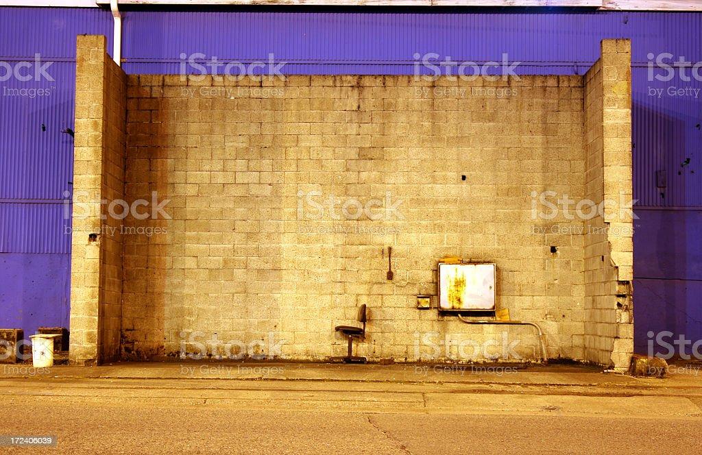 Twighlight vue de murs en brique espace fumeur extérieur - Photo