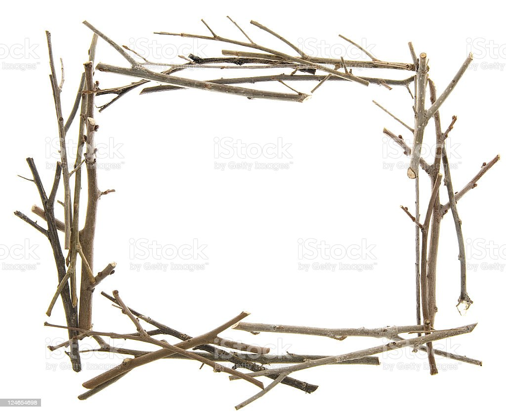 Twigs and Sticks Frame stock photo