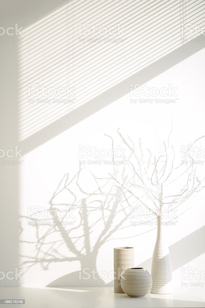 Twigs and vases stock photo