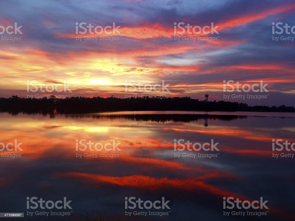 twilight and reflection royalty-free stock photo